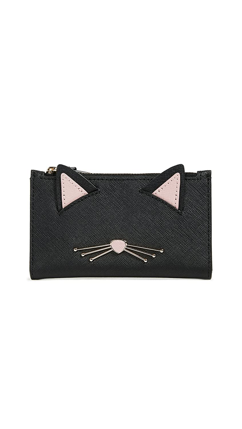 Kate Spade New York Women's Cat's Meow Mikey Cat Wallet Black Multi One Size