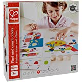 Hape Find and Count Colors Toddler Wooden Board Game