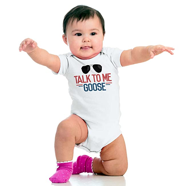 Me Goose New Parents Top Gun Romper Bodysuit T shirt