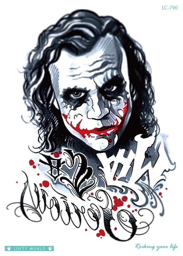 1 hoja de Halloween Cosplay The Joker pegatinas de tatuaje ...