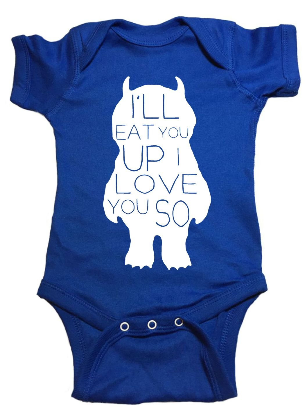 Where The Wild Things Are Baby One Piece ''Love You So'' Bodysuit (18 Month, Blue)