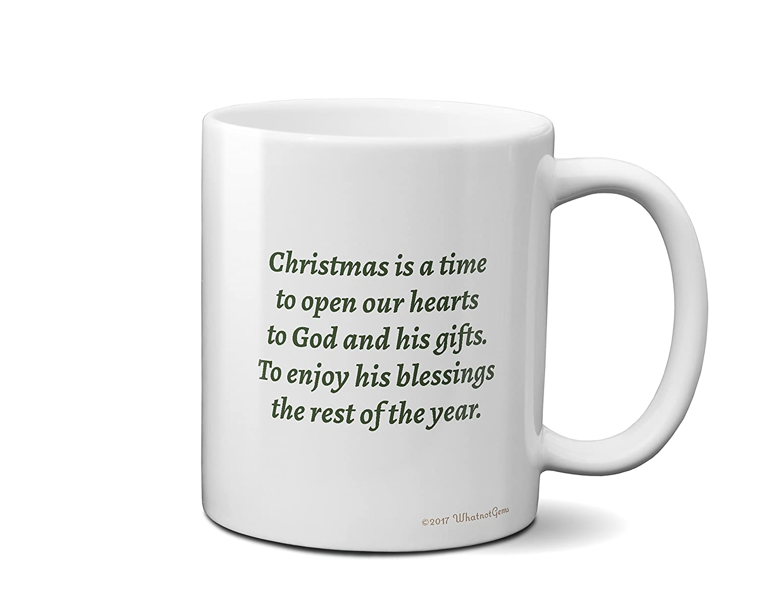 amazoncom time to open our hearts quote christmas tree coffee mug coffee cups mugs - Is 711 Open On Christmas