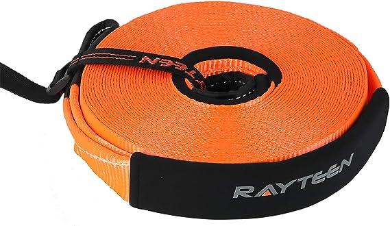 RAYTEEN Recovery Strap Recovery Winch Damper, Orange