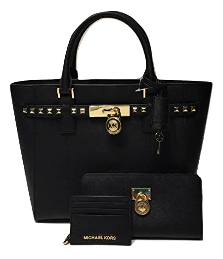 88311ec29ce594 MICHAEL Michael Kors Hamilton Traveler Studded LG TZ Tote bundled with Michael  Kors Hamilton Traveler Zip