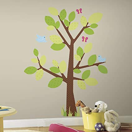 ROOMMATES RMK1554GM Kids Tree Peel u0026 Stick Giant Wall Decal : kids tree wall decal - www.pureclipart.com