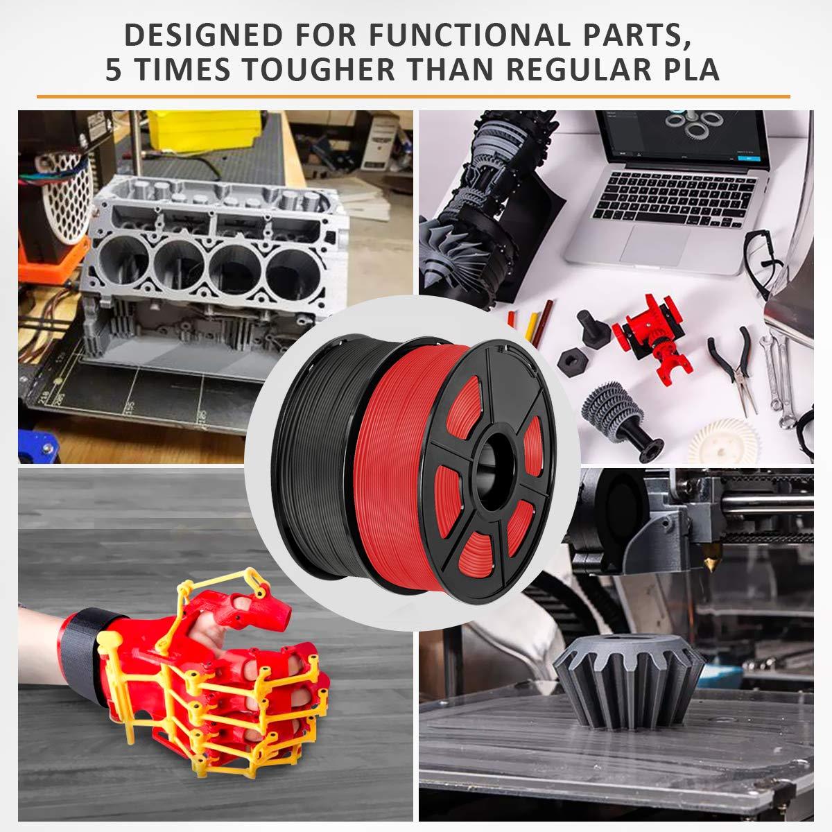 2 kg Spool SUNLU ABS 3D Printer Filament 1.75mm ABS Black+Gray ABS Filament 1.75mm Dimensional Accuracy +//- 0.02 mm