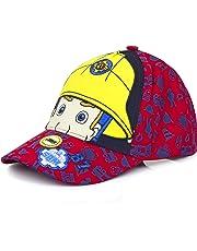 Fireman Sam Childrens/Kids Eyes And Helmet Baseball Cap (UK Size: 54cm) (Red)