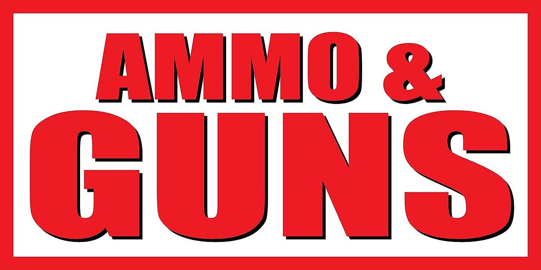 Grommets 5x10 Ammo /& Guns Vinyl Banner Sign 13oz