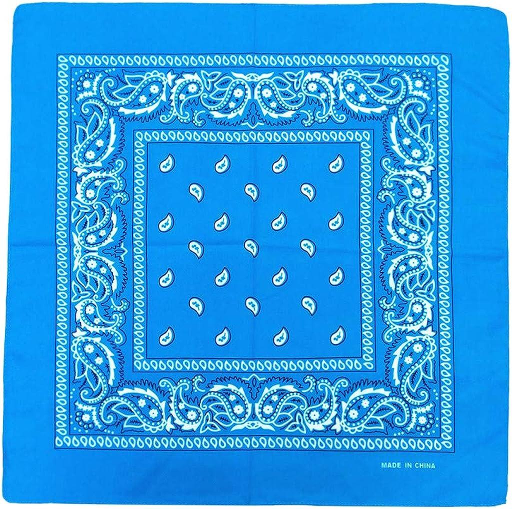 duquanxinquan Pure Cotton Tie-Dyed Kopftuch Square Bandana Sonnenschutz Breathable Bandana Frauen Haarschmuck Stirnband Schal Headwrap f/ür Mama