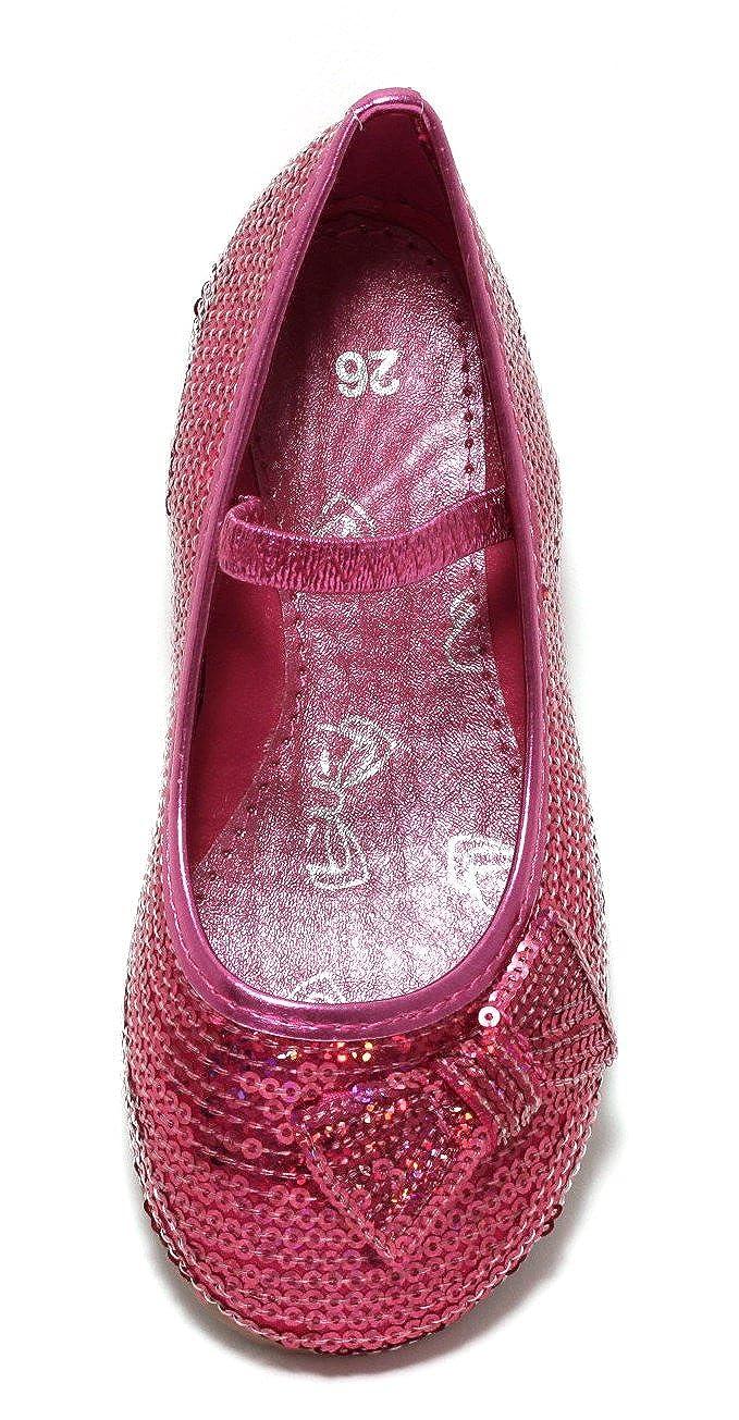 7b43af1cc5e966 Mädchen Ballerina Festtagsschuhe Gr. 30 Glitzer Schuhe Sommerschuhe Slipper  Pink  Amazon.de  Schuhe   Handtaschen