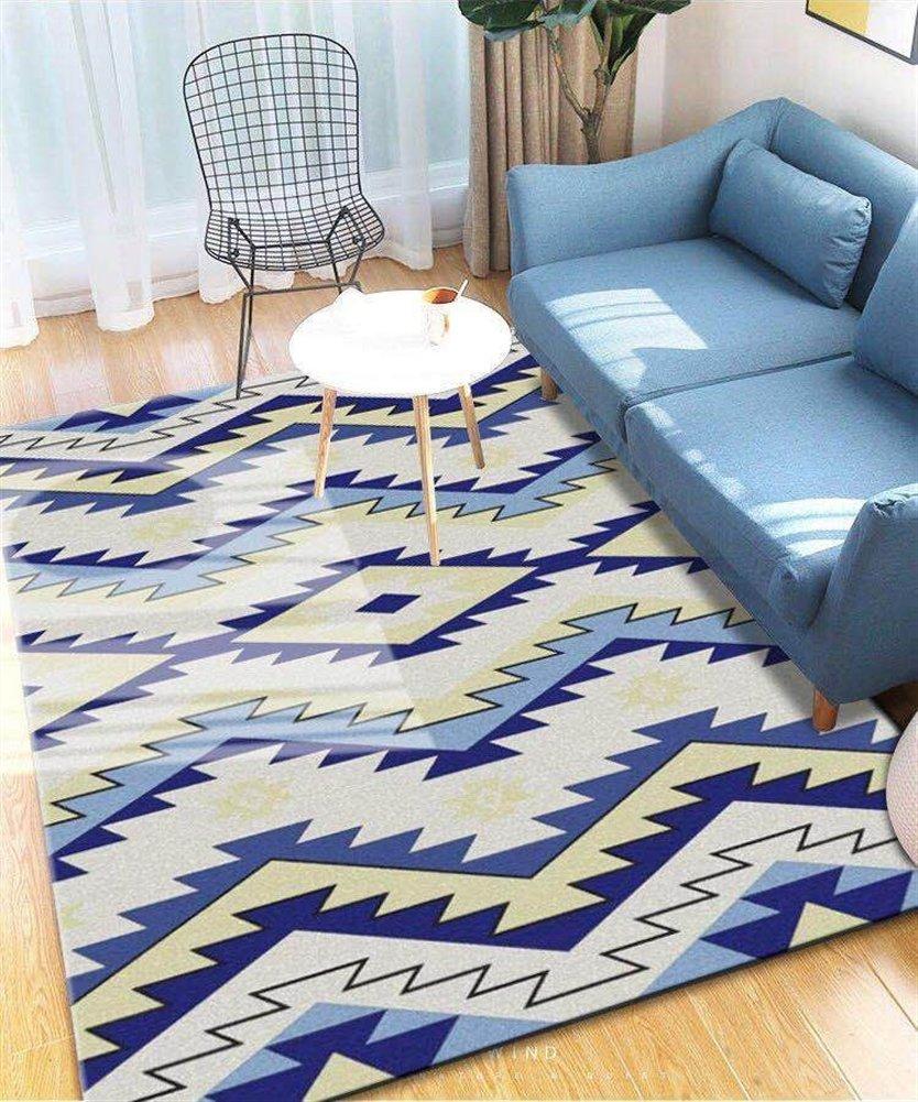 Ommda Teppiche Wohnzimmer Modern Digitales Digitales Digitales Geometrie Teppich Farbeful Kurzflor Antirutsch Abwaschbar 140x200cm 9mm B07F8TPXGF Teppiche 9aa014