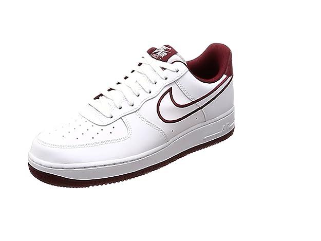 Nike Herren Air Force 1 '07 Lthr Hallenschuhe, White, Team Red