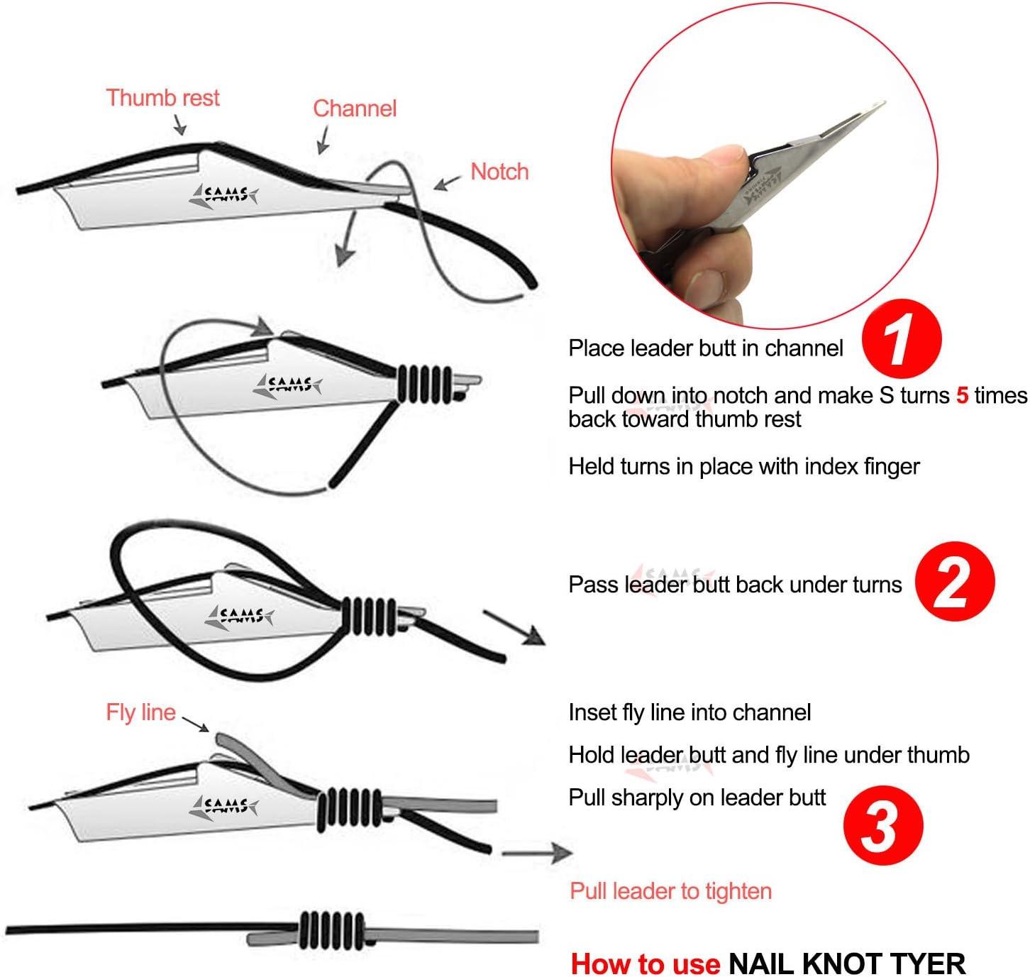 Schnelle Nagelknotenbindung Tool Loop Tyer Hook Tier für Line* Fly Fishing J3R1
