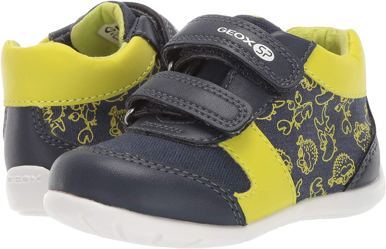 Geox Unisex-Child Elthan Boy 1 High Top Velcro Shoe Sneaker