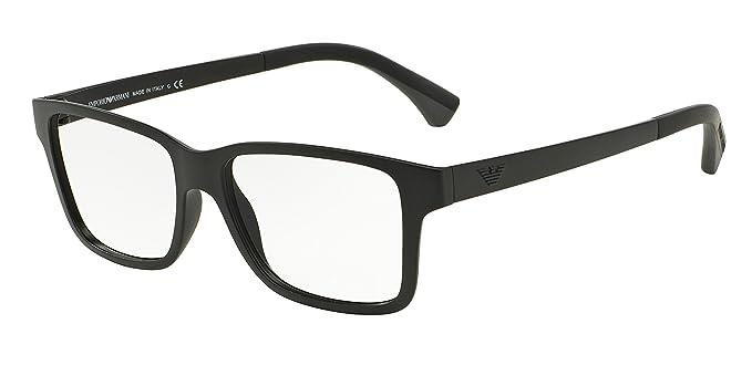 Emporio Armani - Montures de lunettes - Homme Noir noir  Amazon.fr ... 90a7b999041a