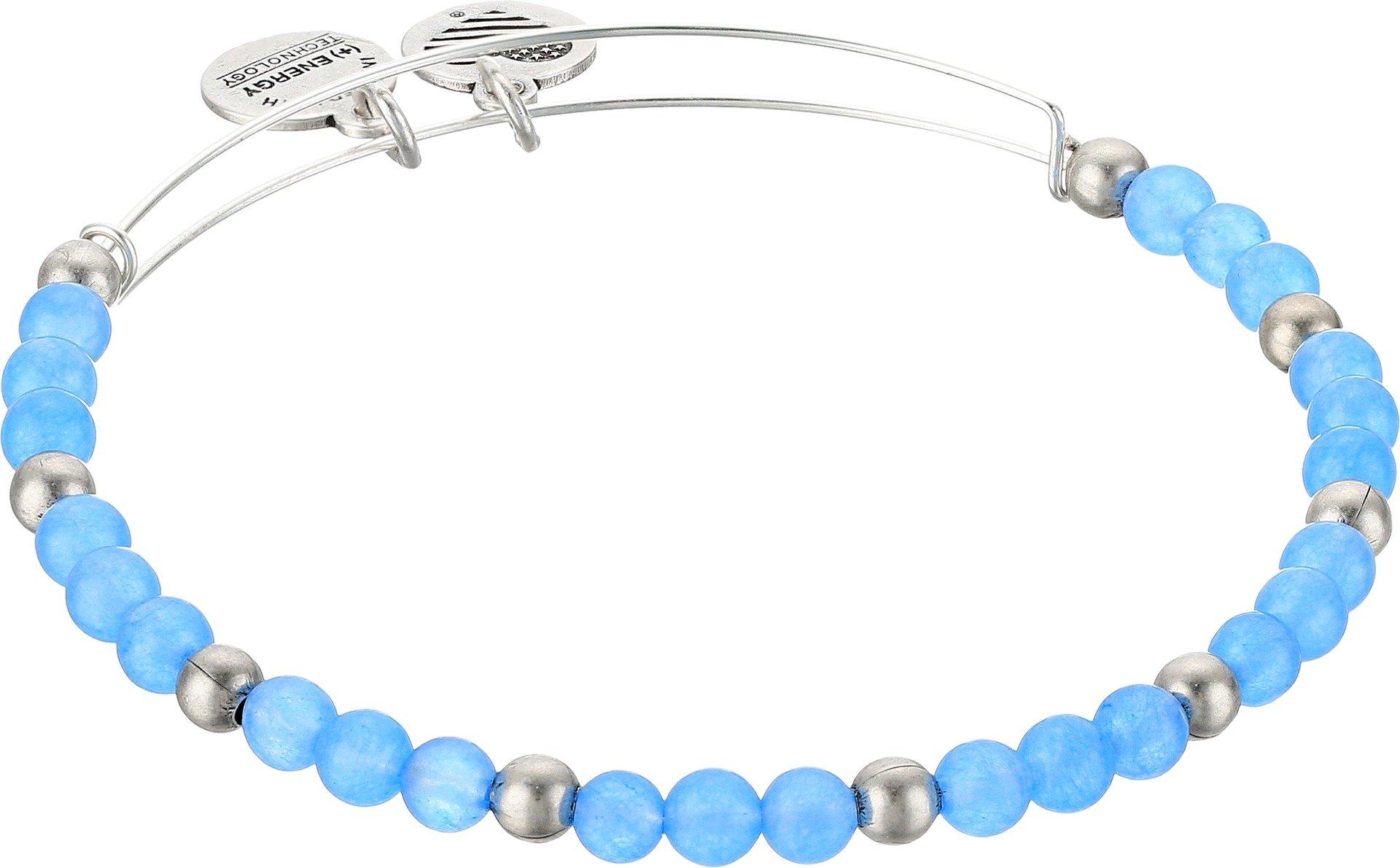 Alex and Ani Color Classics, Hydrangea/Rafaelian Silver Bangle Bracelet