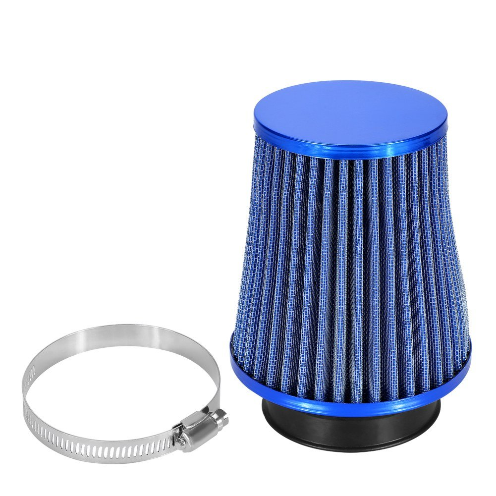 Zerone Automotive Air Filter, 3 Inch Inlet Car Air Filter High Flow Cold Air Filter Mesh Cone with A Stainless Steel Clamp