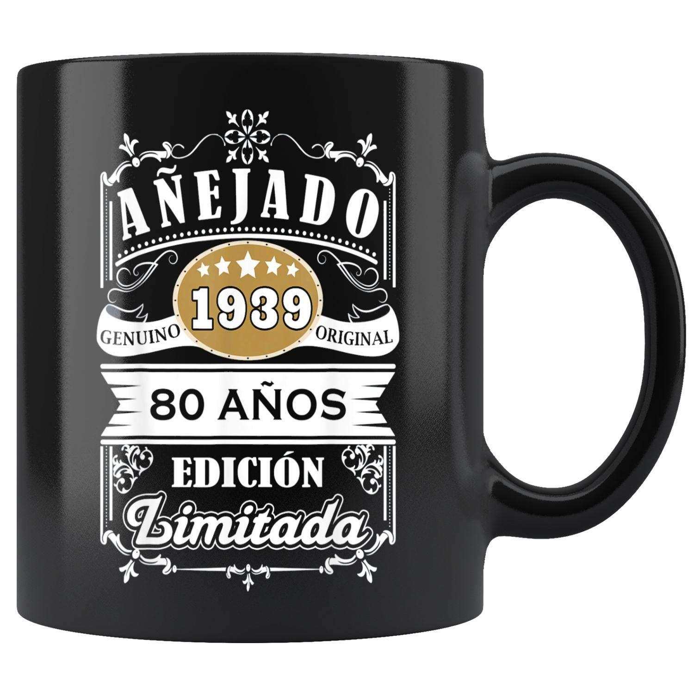 Amazon.com: Mens Camisa Hombre Cumpleanos 80-1939 80 Anos ...