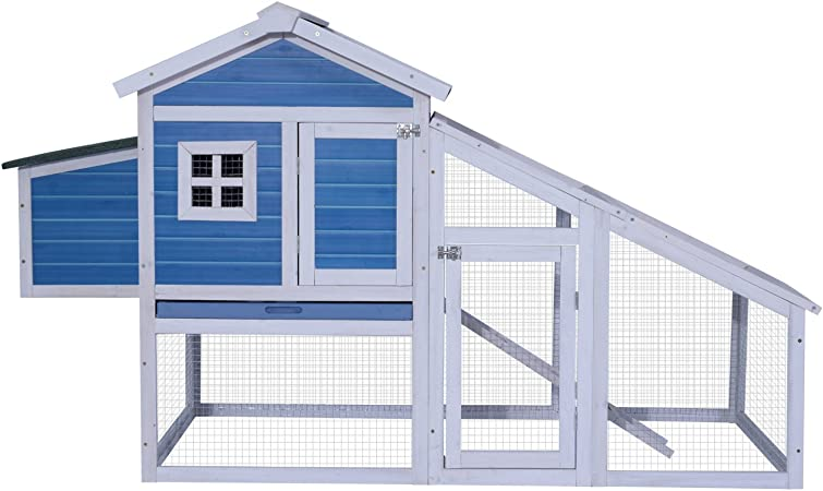 80/'/' Wooden Chicken Coop Nest box Hutch Poultry Enclosure Cage Rabbit Shelter