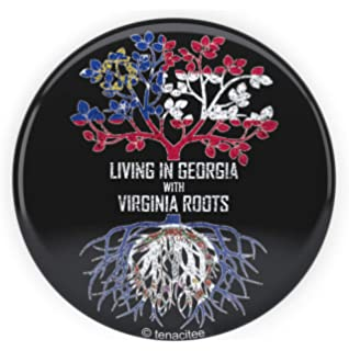 Tenacitee Mens Living in Georgia Kansas Roots T-Shirt