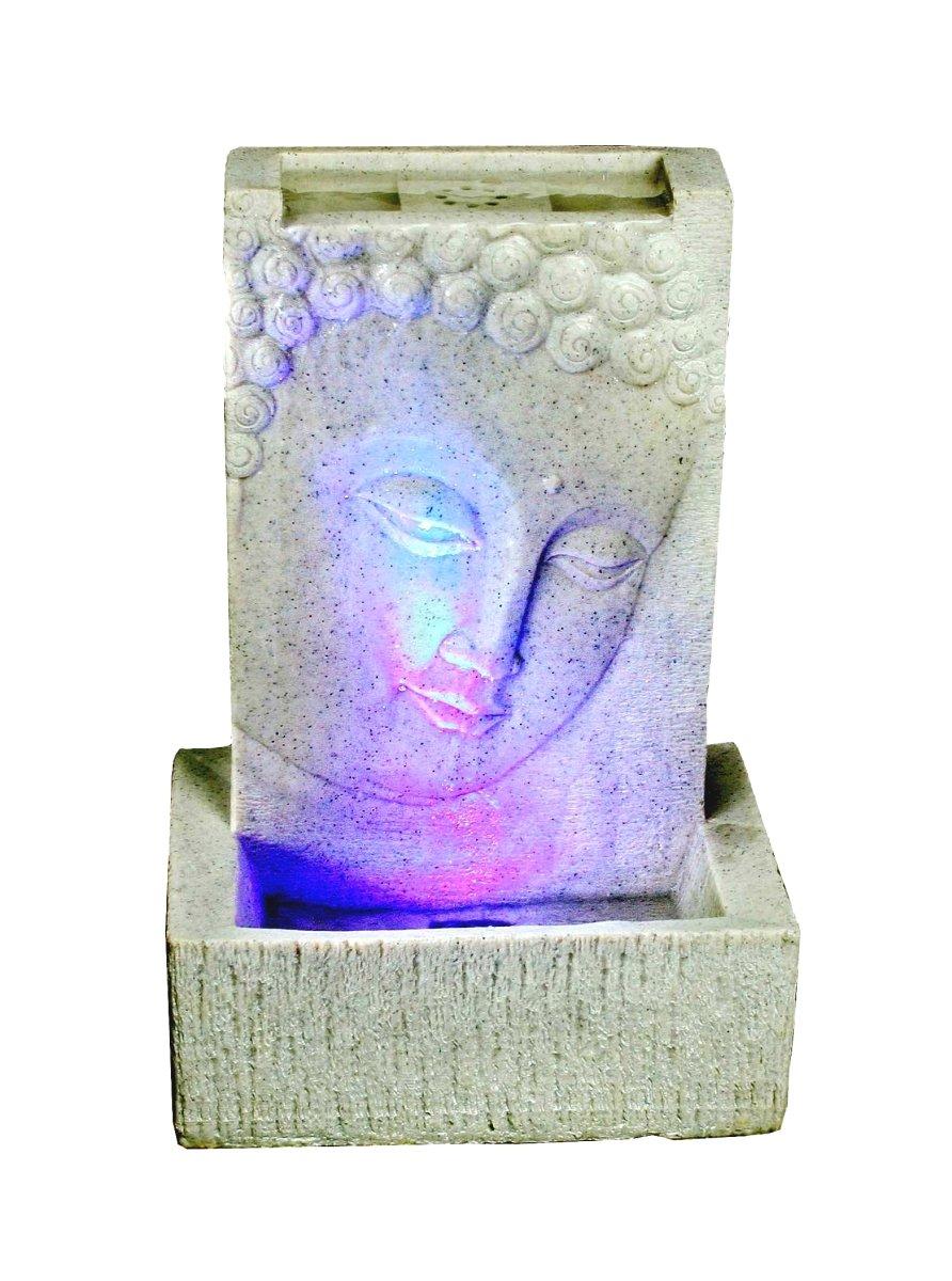 Brunnen Buddha Zimmerbrunnen Mit LED Wohnung Entspannung Dekoration Antik Luftbefeuchtung Deko Wohnzimmer Amazonde Garten