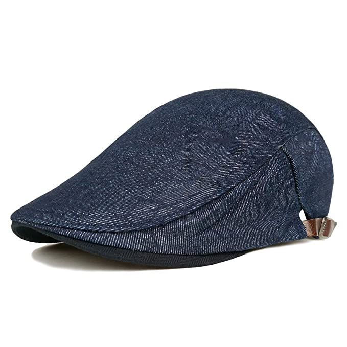 e5cfc04f15f Unisex Duckbill Hat Breathable Mesh Cotton Summer Newsboy Beret Ivy Cap  Cabbie Flat Soft Hat