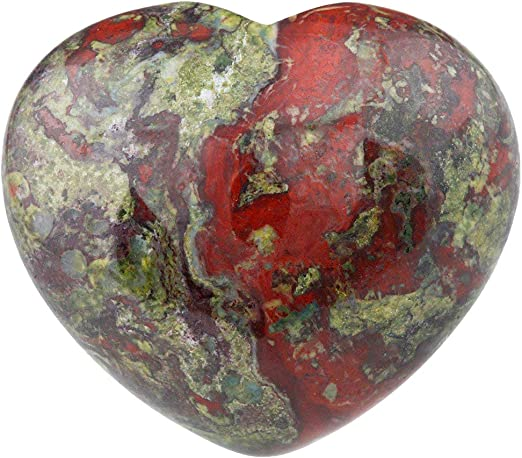 Carved Pocket Mini Puff Heart Worry Healing Palm Stone for Chakra Reiki Balancing 1.5inch June/&Ann Natural Africa Bloodstone Healing Crystal Stone Heart