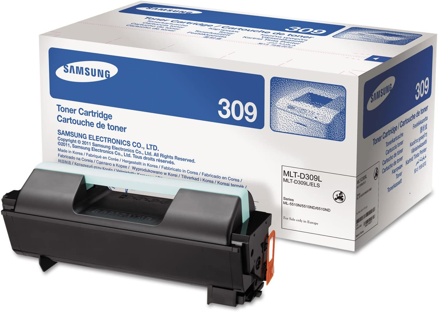 Compatible with Samsung MLT-D309L Toner Cartridge for Samsung ML-5510 5512ND ML-6510ND 6512ND Printer Cartridge,D309L