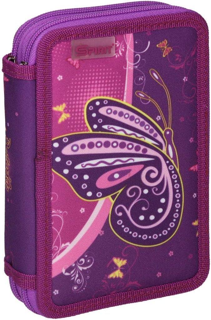 Gataric Estuche Escolar Mariposa Violeta 2 Zipp: Amazon.es: Juguetes y juegos