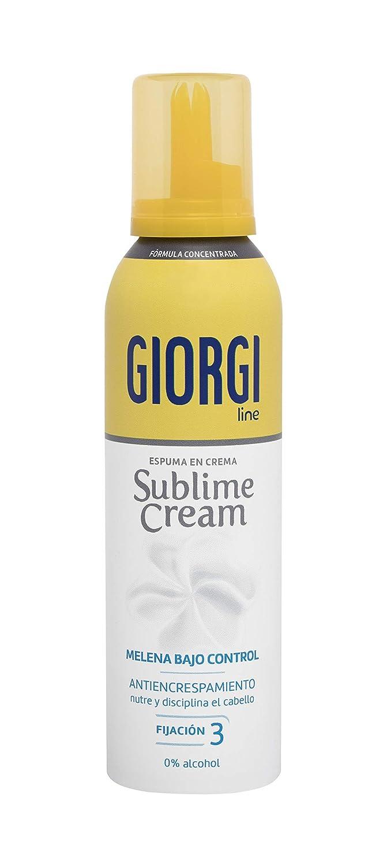 Giorgi Line - Sublime Cream, Espuma en Crema Melena Bajo Control sin Encrespamiento, Fórmula Concentrada 0% Alcohol % Siliconas, Fijación 3- 150 ml