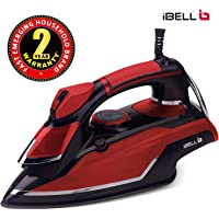 iBELL 1600-Watt Steam Iron with Spray with Anti-Drip and Self Cleaning Function (Red)