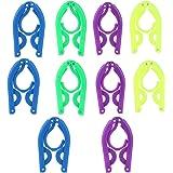 ROSENICE Portable Travel Folding Plastic Clothes Coat Hangers Racks 10pcs(Random Color)