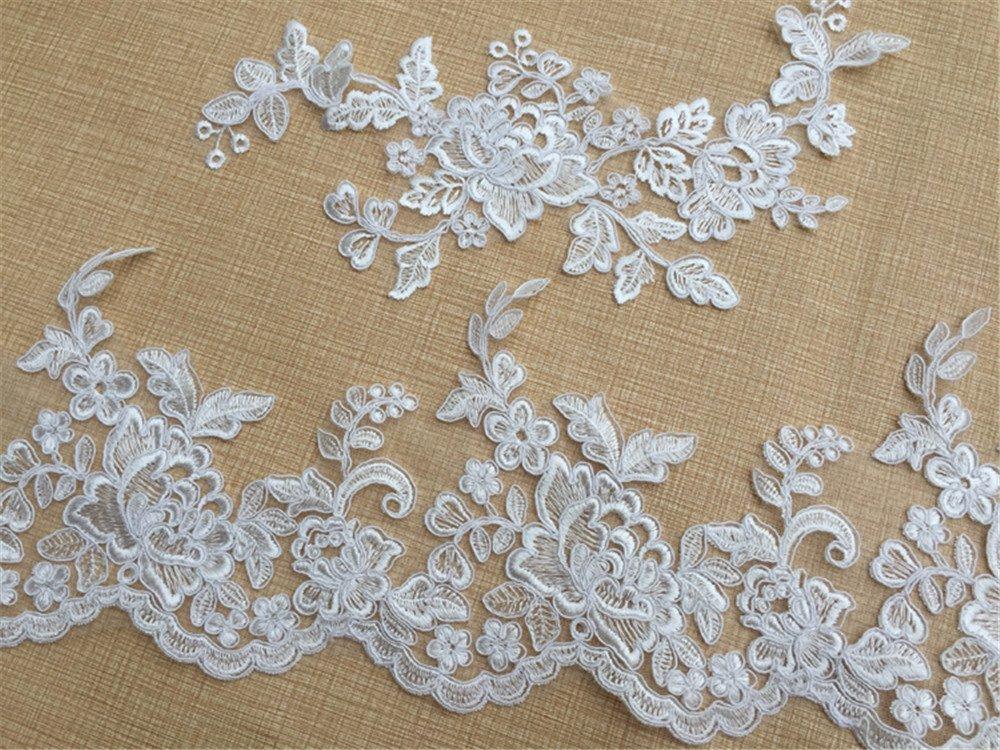 1 Stück Schön Süß Blumen Gewebe Ausschnitt Kragen Spitze Borte DIY