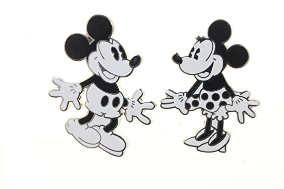 Amazoncom Disney Pin 74166 Vintage Mickey Mouse And Minnie Mouse
