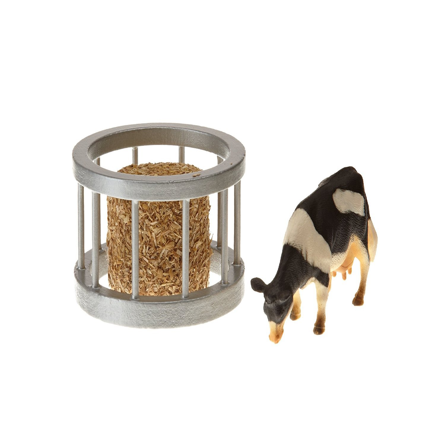 1:32 Kids Globe Farm Feeder Ring With Round Bale  Cow by Van Manen