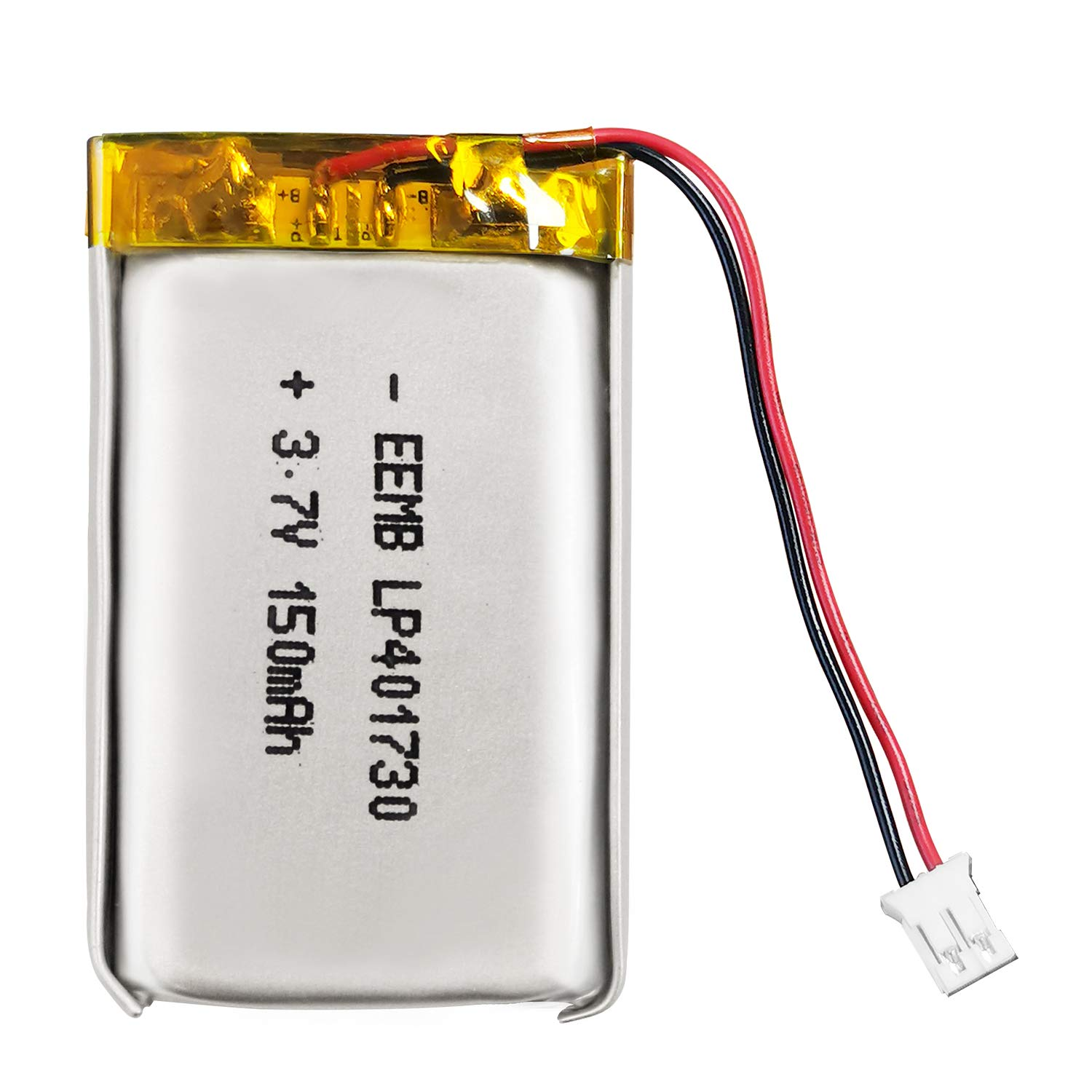 EEEMB 3.7V Lipo Battery 150mAh 401730 Lithium Polymer ion Battery Rechargeable Lithium ion Polymer Battery PCS with Molex Connector UN38.3