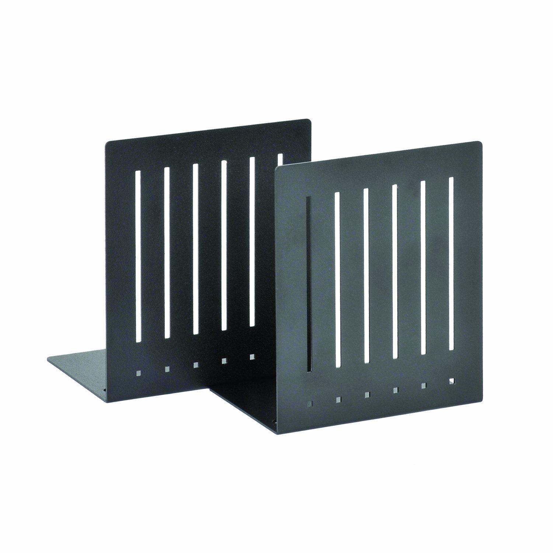 STEELMASTER Heavy Duty 6-Inch Steel Bookends, 1 Pair, Black (241060004)