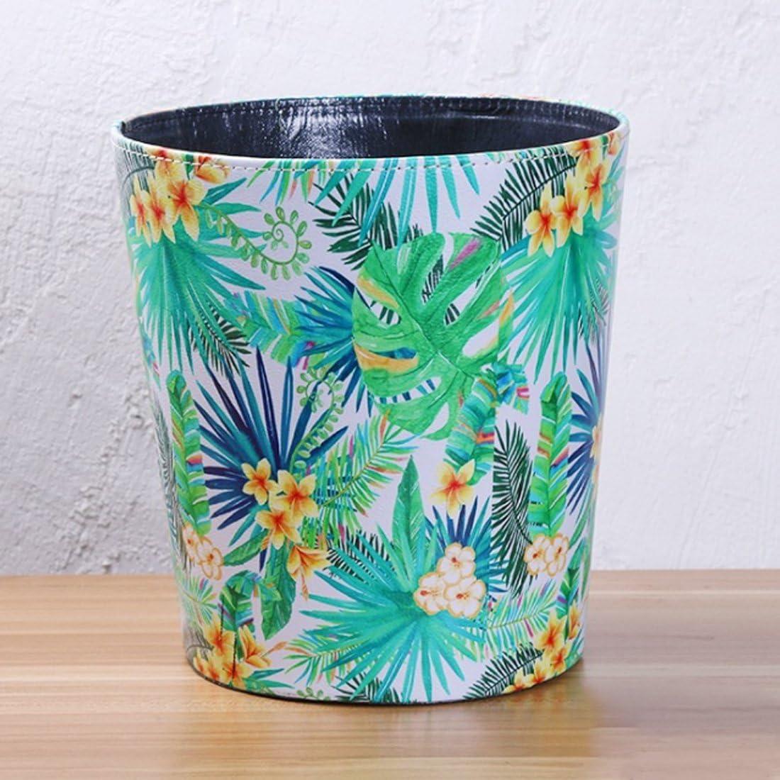 BOROK 10L Waterproof Vintage Office Rubbish Bin Waste Paper Bin Children Hawaiian Typ 2 25 x 27cm 25/x 27/cm PU