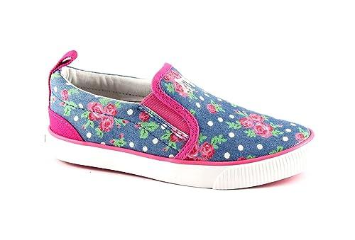 PRIMIGI 33653 fiori scarpe bambina slip on sneakers tessuto elastici  Amazon .it  Scarpe e borse 5ca883b6507