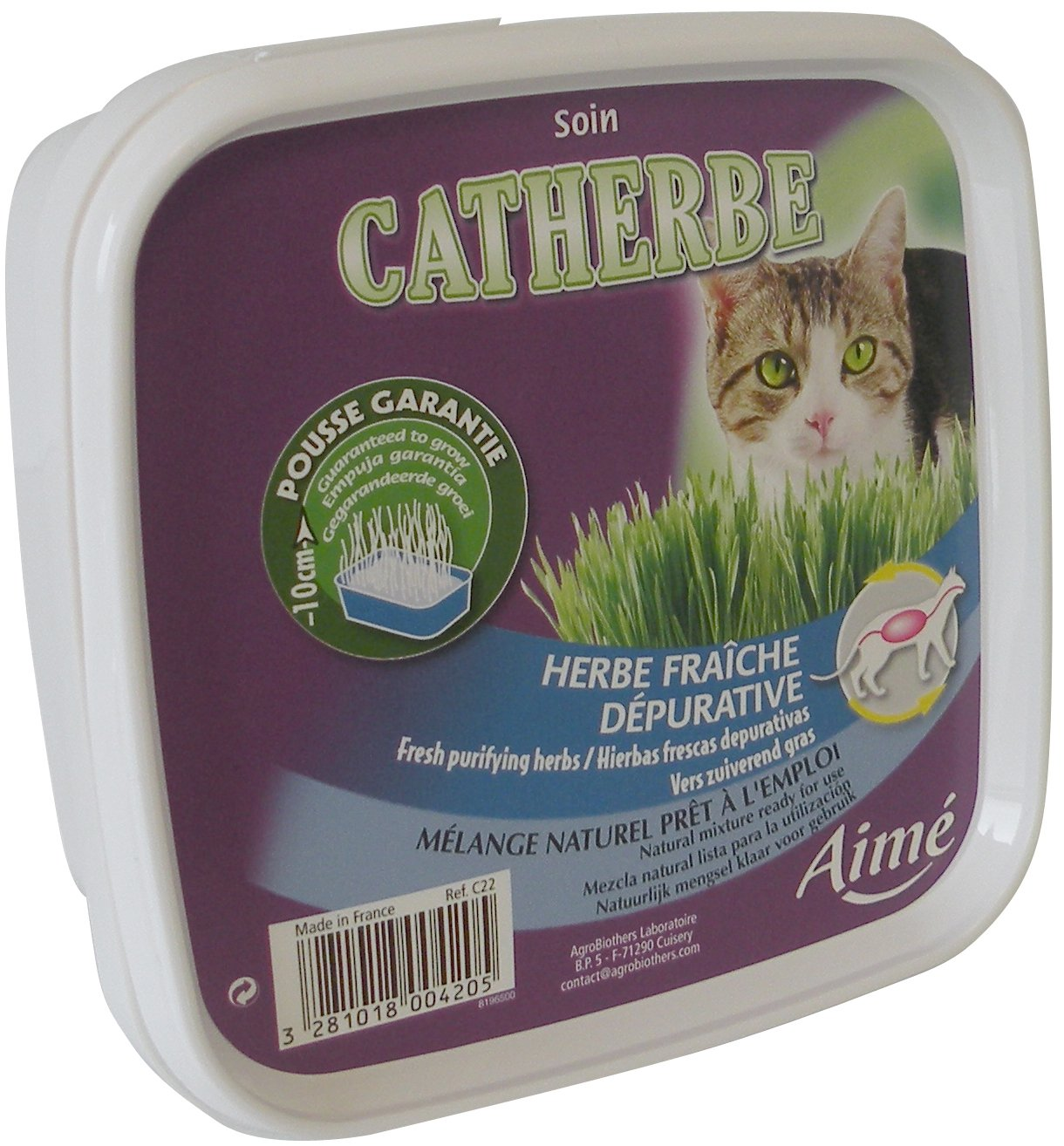 Aime Catherbe pour Chat - Lot de 7 Agrobiothers C22