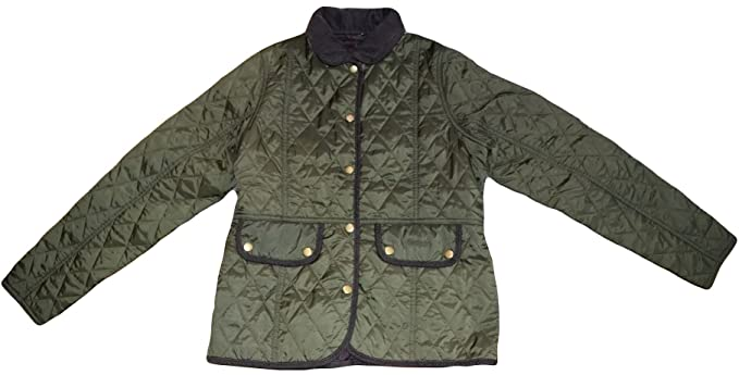 0b22d1af Barbour Girls Childrens Green Quilted Jacket Size XXL 14/15 Years:  Amazon.co.uk: Clothing