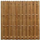 vidaXL Pannello di recinzione Hit & Miss verticale in legno