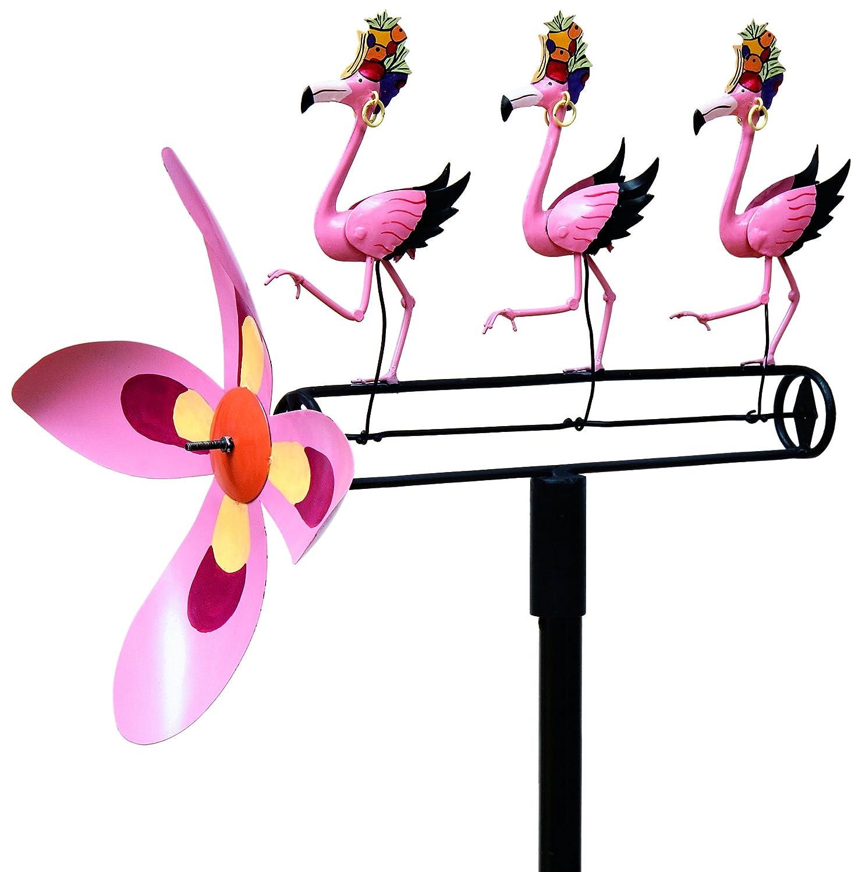 Carmen Miranda Pink Flamingos Whirligig