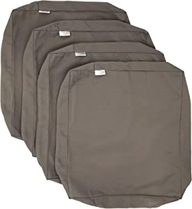"CozyLounge Indoor Outdoor Water Repellent High UV Resistant Patio Chair Cushion Cover (22""x20""x4"" (4 Covers), Timeless Taupe)"