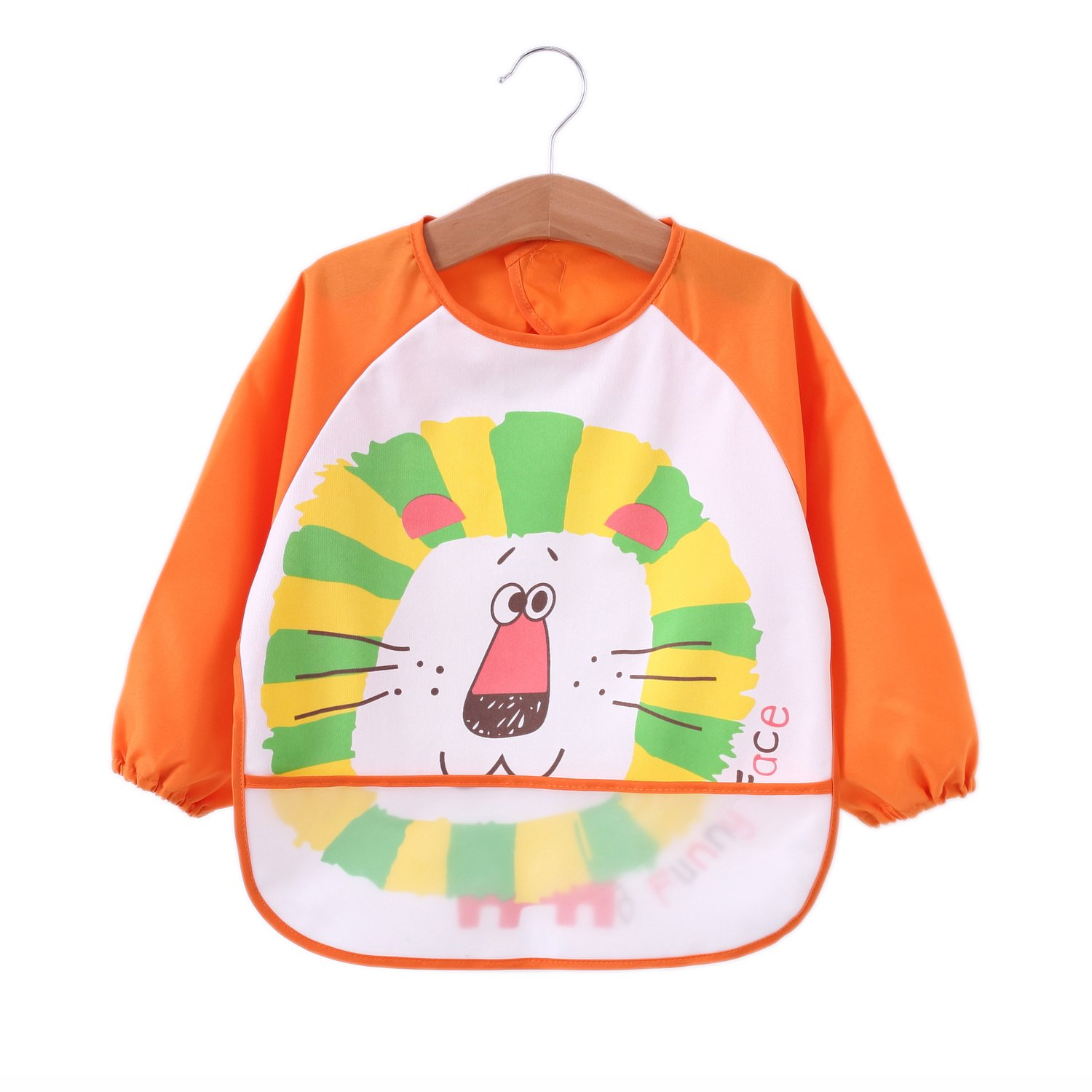 Momloves Cute Baby Toddler Waterproof Sleeved Bib,Water Resistant,Funny Personalized for Boys /& Girls