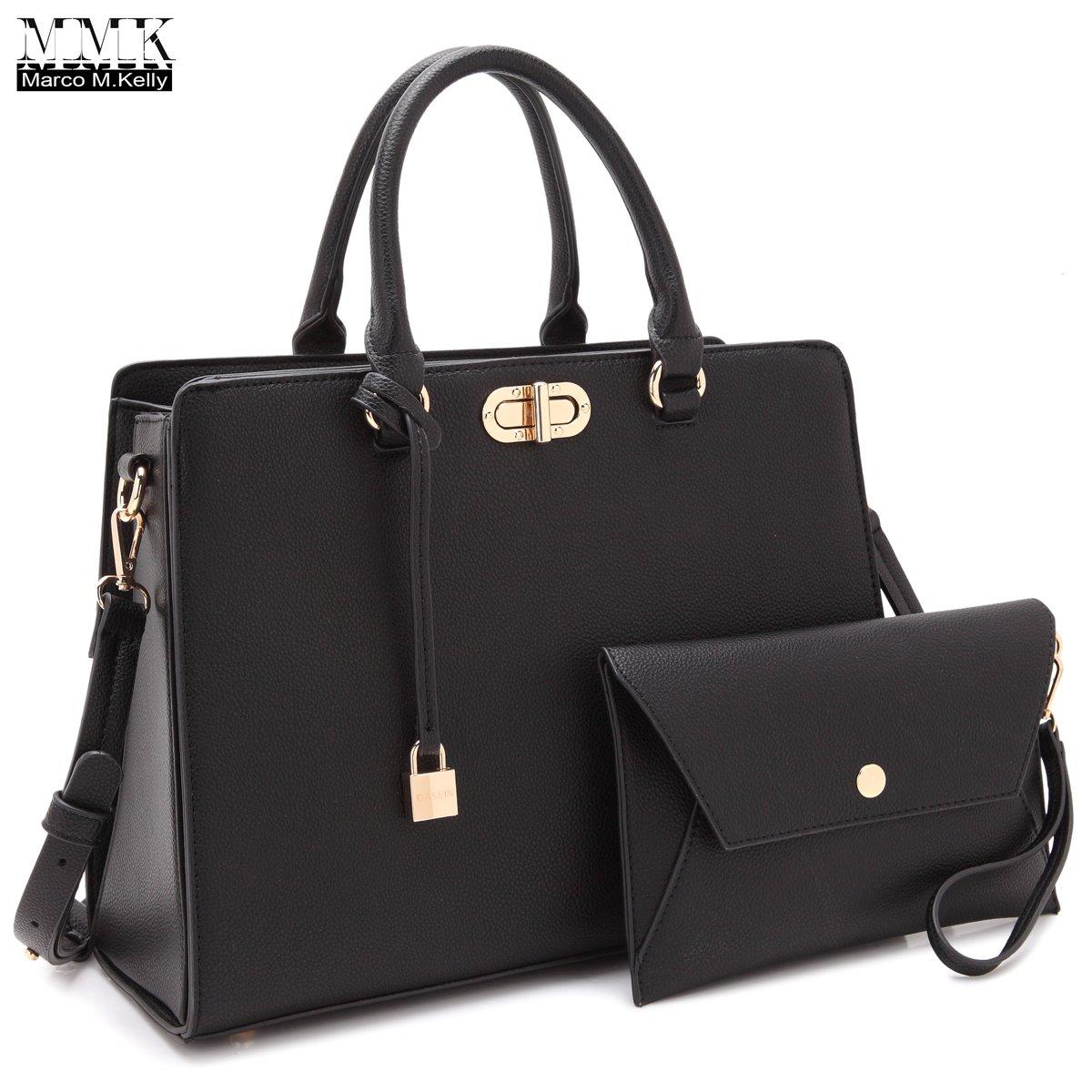 MMK collection Fashion Handbag with coin purse(XL-11) Classic Women Purse Handbag for Women` Signature fashion Designer Purse ~ Perfect Women Satchel Purse (XL-23-7581-BK)