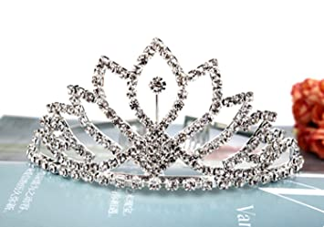 Amazon.com   Vinida Crystal Tiara Crown Headband for Wedding Prom Bridal  Birthday (Sliver)   Beauty 10352764c90