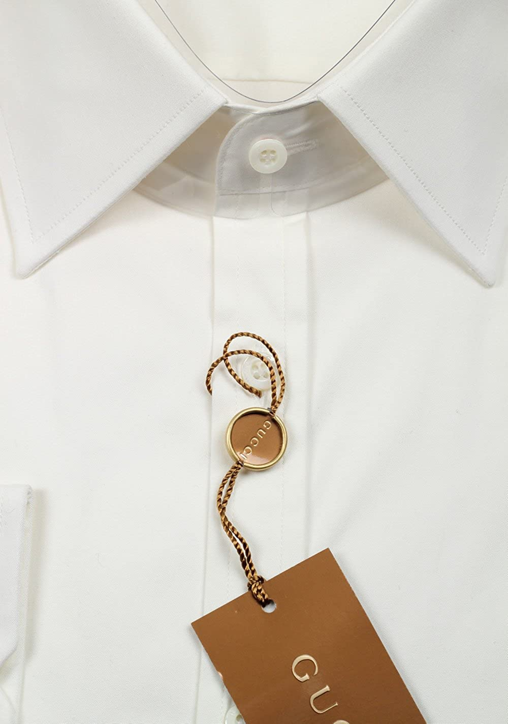 Gucci CL Solid Off White Dress Shirt Size 43/17 U.S. Fitted ...