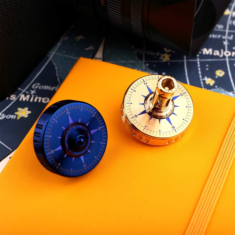 INSPIRS New Special Elegant Titanium EDC Spinning Tops Pocket spintop Precision CNC maching Desk Toys (Gold)