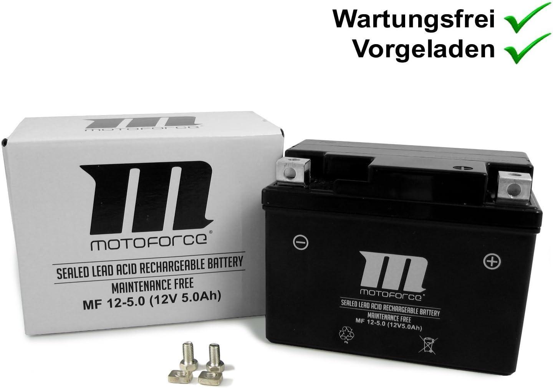 Motoforce RY6 50-2008 RY6 50 2009- Kreidler Flory 50 4-Takt Wartungsfreie Batterie YT4A-3 5Ah Keeway Swan 50 2009- F-Act 50 Racing SP 2009-